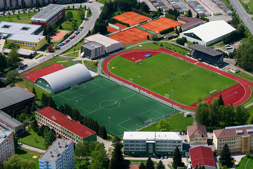 Sports Facilities Management Aerial Field View