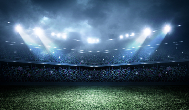 Sports Facilities Management View of Lit Soccer Field
