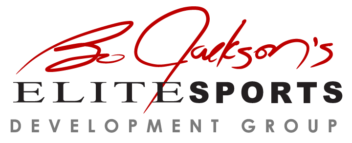 Bo Jackson's elite sports development group logo from Sports Facilities Advisory