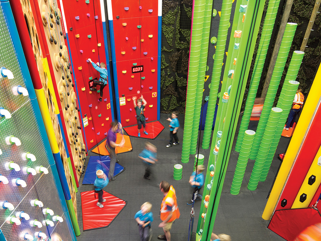Rock Climbing at a Sports Complex and Recreation Center