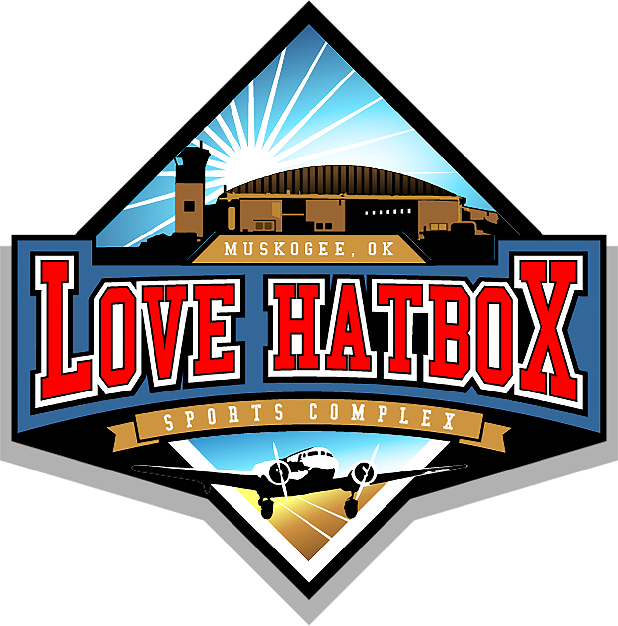 love hatbox sports complex logo