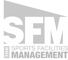 grey logo for sports facilities management