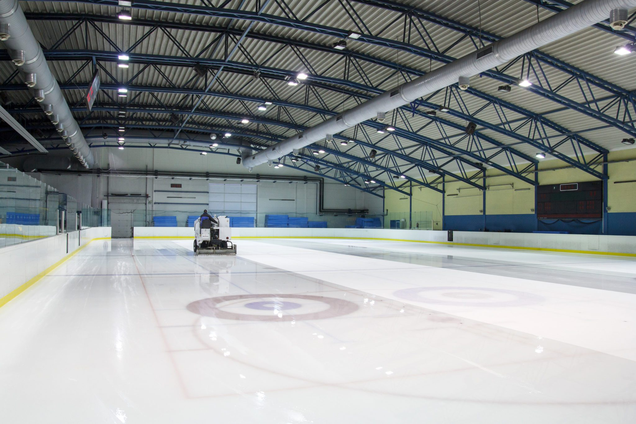 Ice Resurfacer on a Hockey Sports Complex