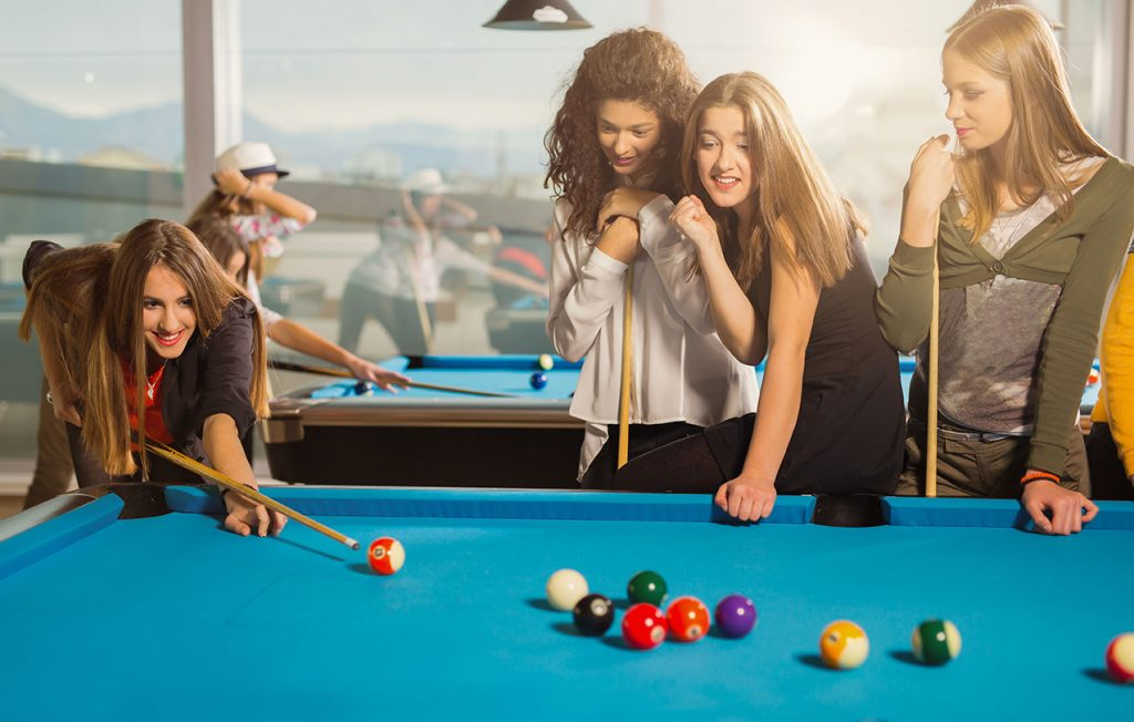 Billiards can be great for a college recreation center