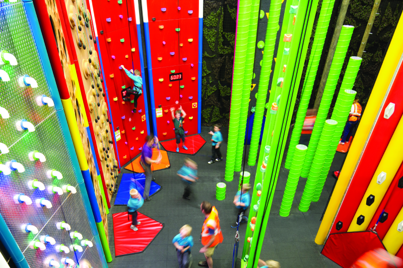 Clip n' Climb room at Sports Facilities Advisory sports complex