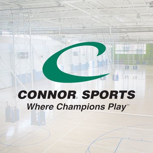 Connor Sports Complex Logo with Facility in Backround