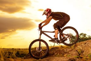 Mountain Biking at a Sports Complex