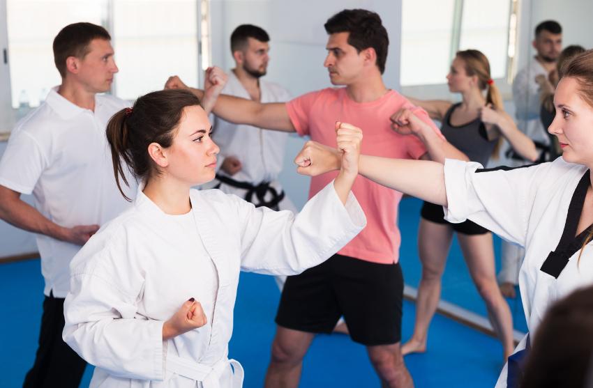 Recreation center adult martial arts