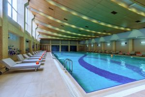 Indoor pool in a recreation center