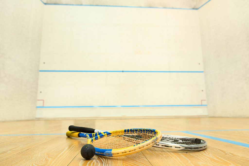 racquetball court in sports complex