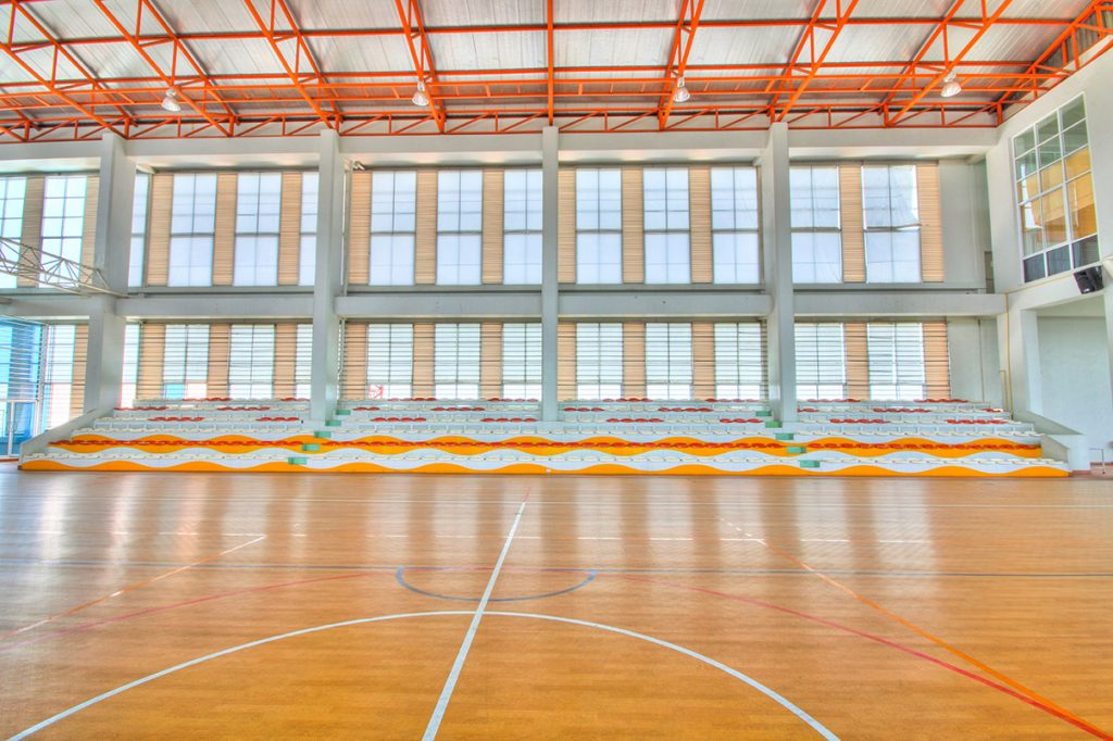 Court in a sports complex