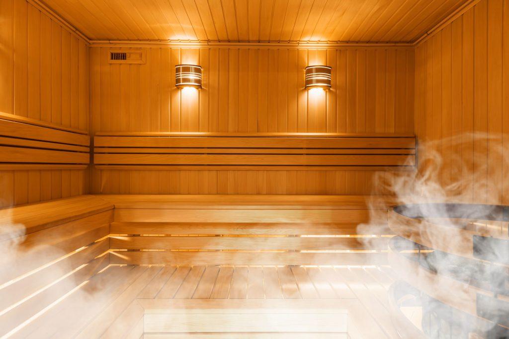 Sauna at a recreation center