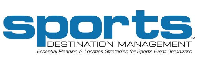 Blue & white logo for SDM, affiliate of Sports Facilities Advisory