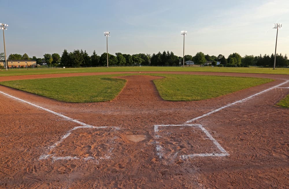 Example of sports facilities with baseball field