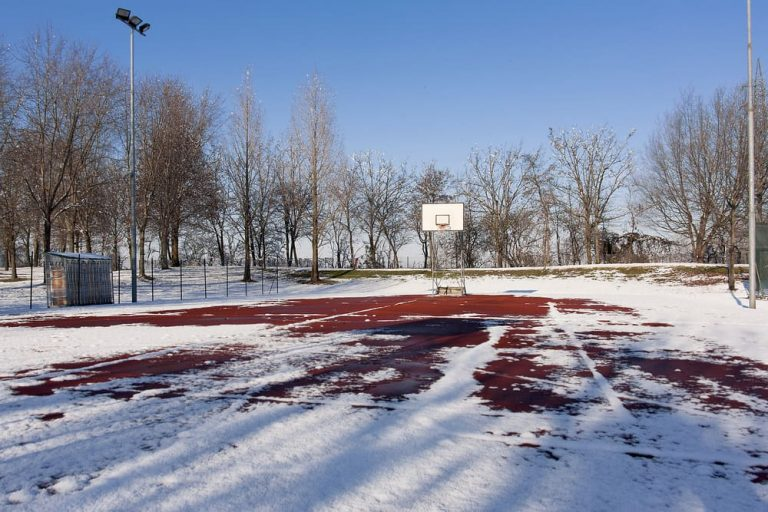 Basketball Court at Sports Complex during the winter