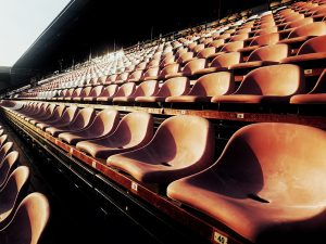 empty seating at a complex which needs the help of Sports Facilities Advisory
