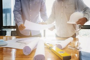 Architects planning a multi-purpose facility
