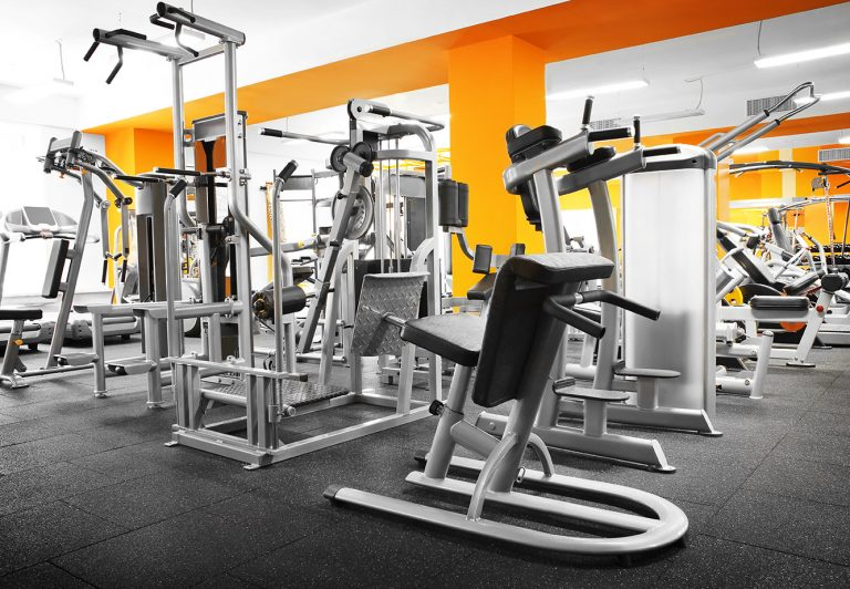 ff&e gym equipment in a weight room