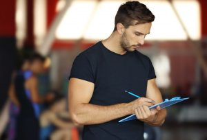 Man planning an event for facility management