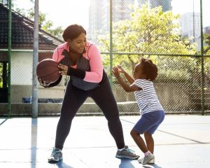 Family staying active at SFM sports facilities