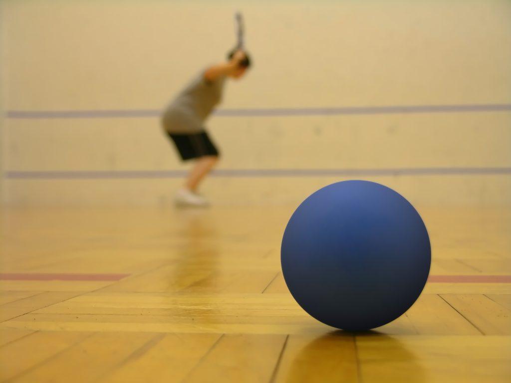 Racquetball in a recreation center