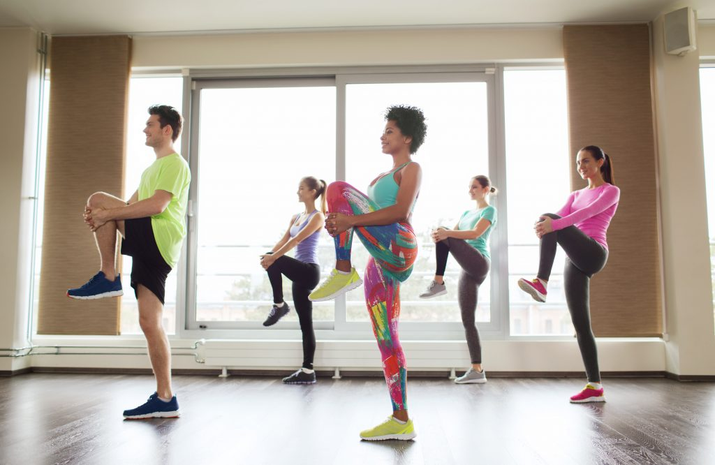 Aerobics class in session