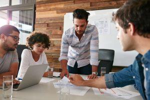 Marketing team creating new strategy