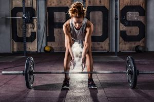 Woman doing crossfit workout