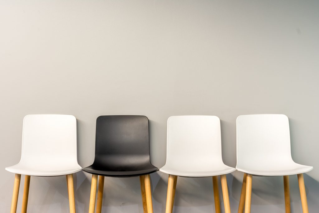 Four different chairs