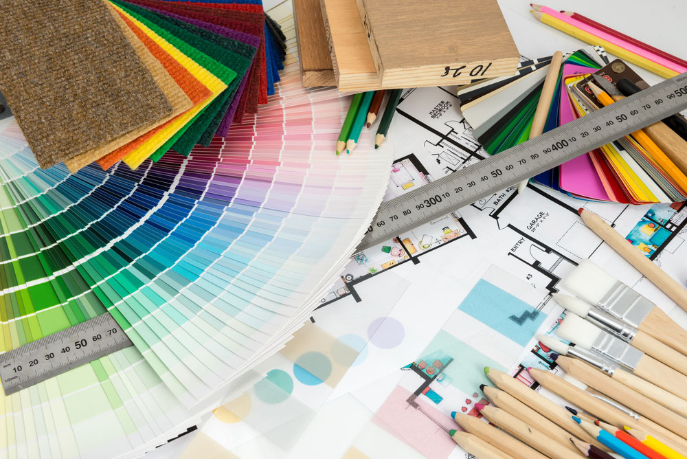 Color schemes and materials