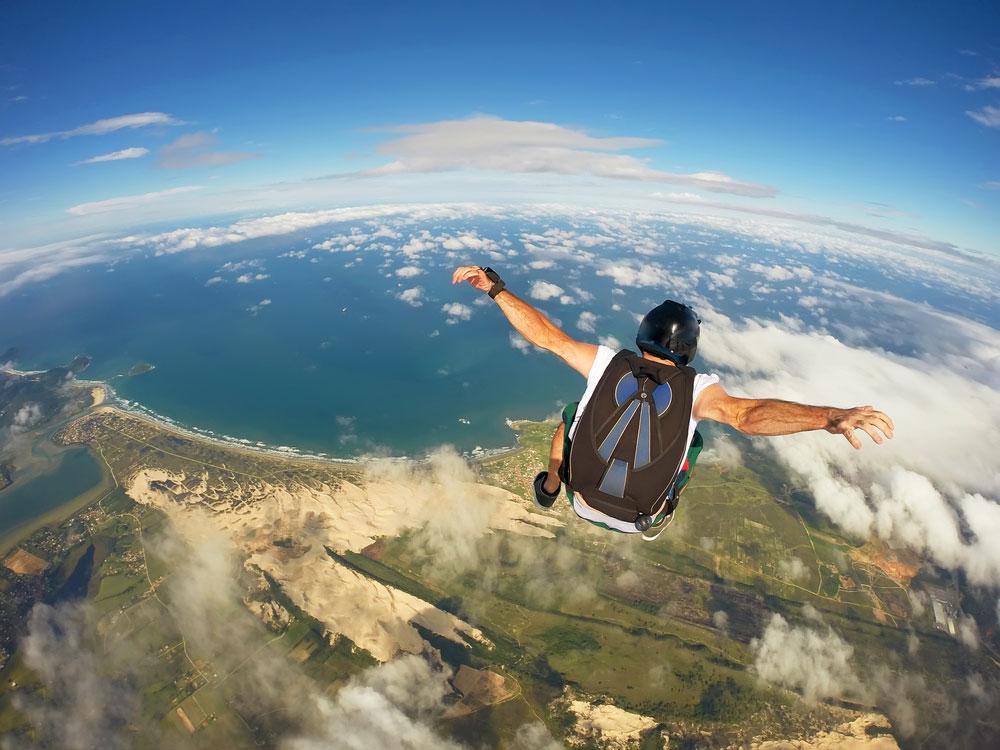 Skydiving in Santa Catarina, Brazil