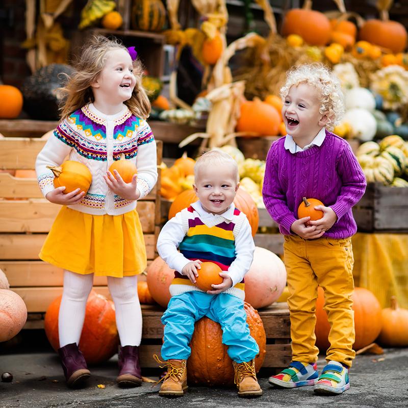 Kids Enjoying a Harvest Festival