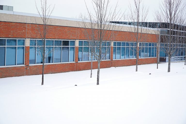 Community center in the winter