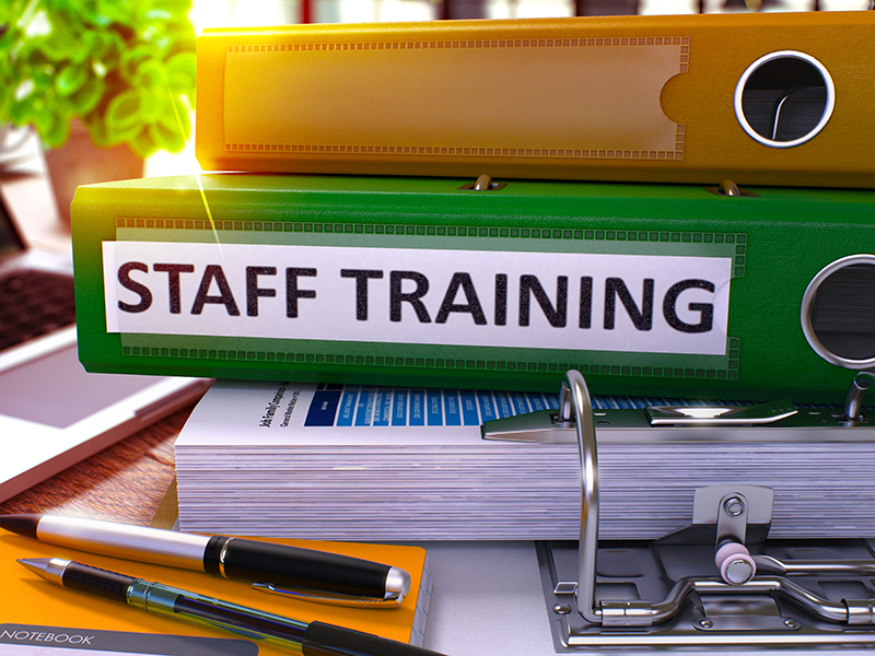 "Green ""Staff Training"" Folder"
