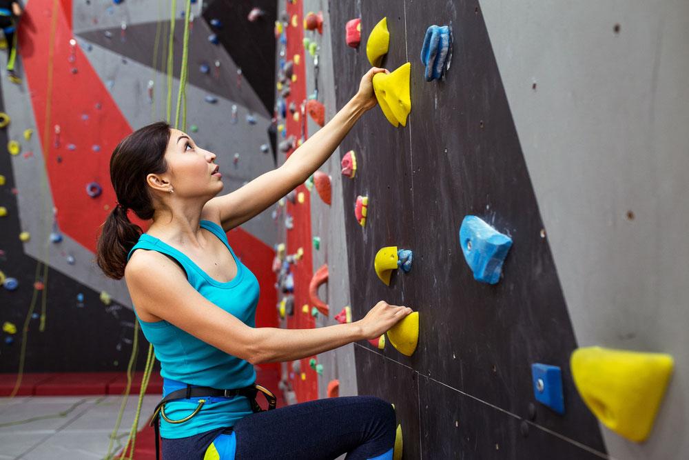 People at Climbing Gym