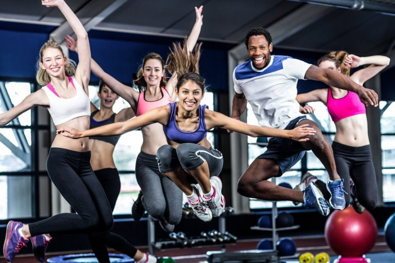 High-energy group workout