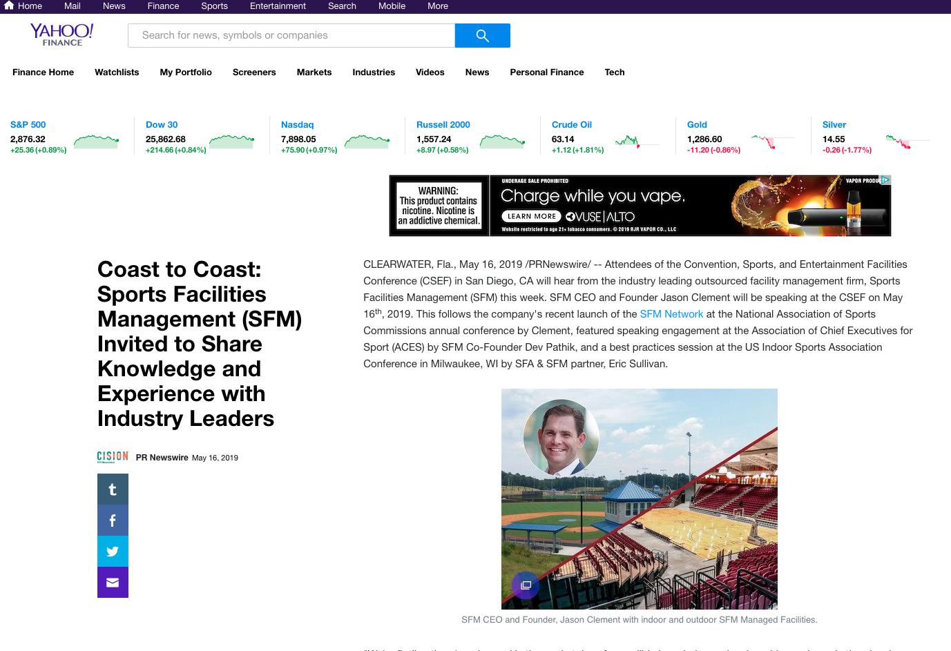 News Articles | Sports Facilities Advisory & Sports